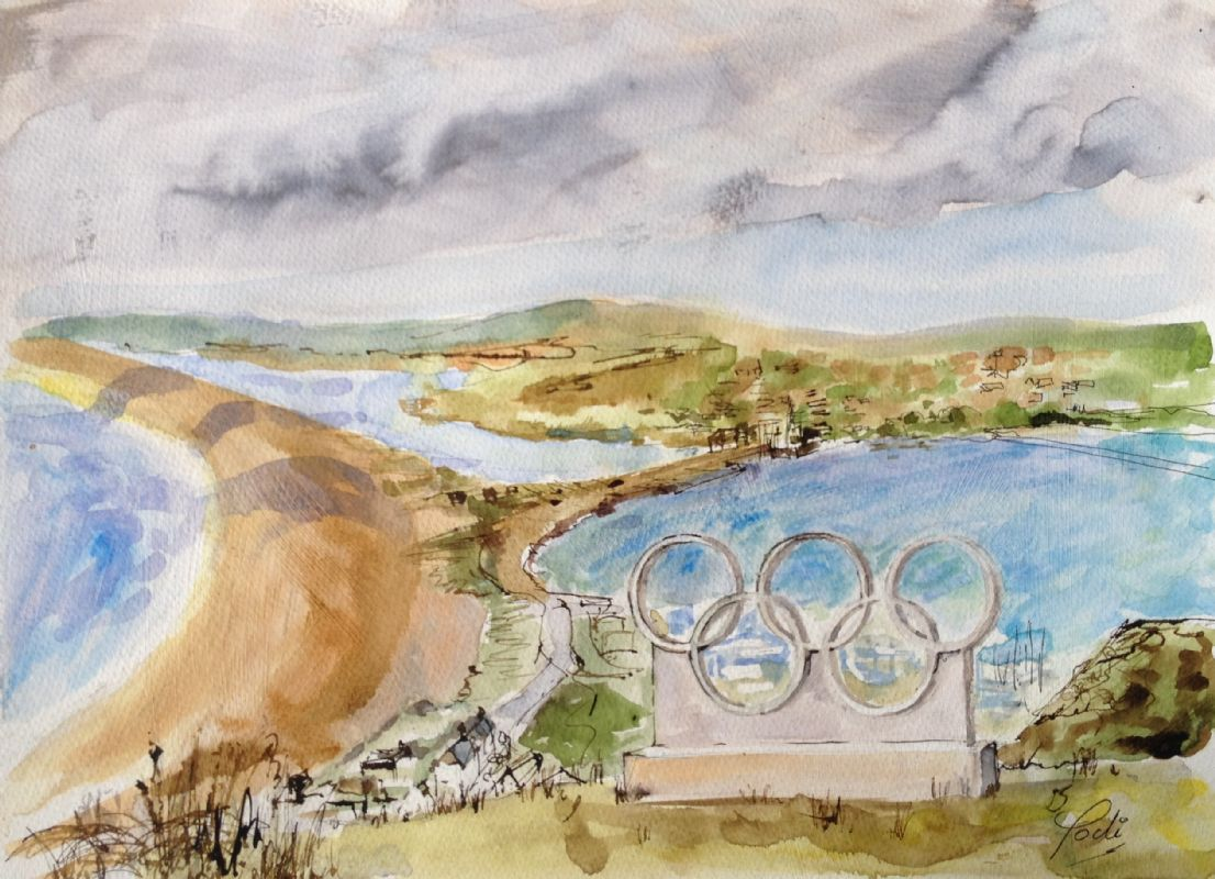 CHESIL BEACH & OLYMPIC RINGS